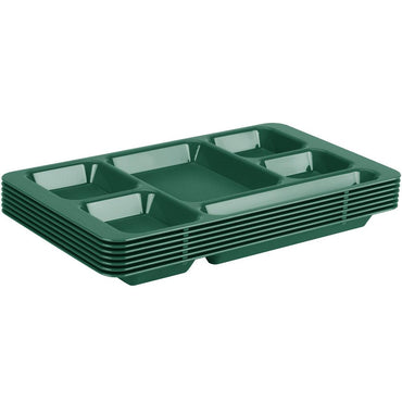 """SCHOOL COMPARTMENT TRAY 2x2, 15x9 - SHERWOOD GREEN"""