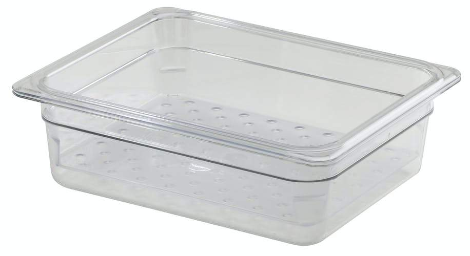 POLYCARBONATE FOOD PAN COLANDER 32.5x53cm DEPTH:  12.7cm - C