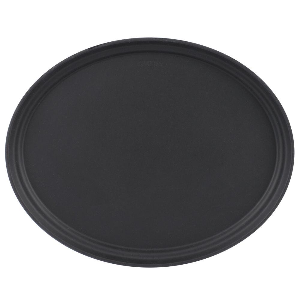 CAMTREAD BLACK OVAL TRAY SIZE:19x23 cms