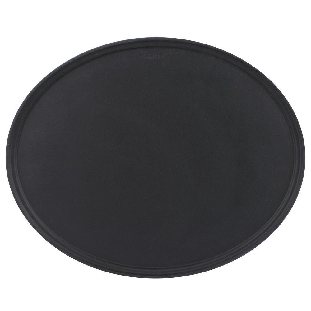 "OVAL CAMTREAD TRAYS 23""x29"" – BLACK SATIN - Mabrook Hotel Supplies"
