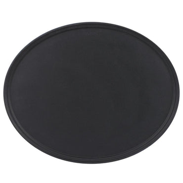 "OVAL CAMTREAD TRAYS 23""x29"" – BLACK SATIN"