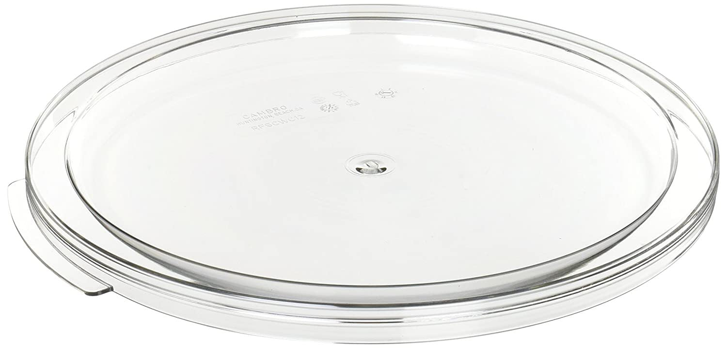 Cambro, Polycarbonate Cover Fit for 12 qt, 18 qt & 22 qt Food Storage Round Container