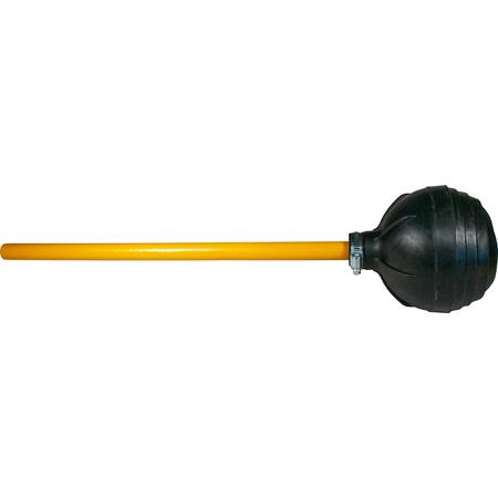 "Toilet Plunger, force cup suction, 6"" dia., 20"" wood handle, black - Mabrook Hotel Supplies"