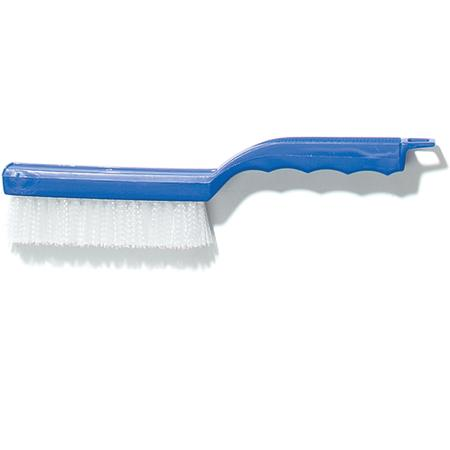 "Scratch Brush, 11-1/2""L, plastic handle, nylon bristles, standard color - Mabrook Hotel Supplies"