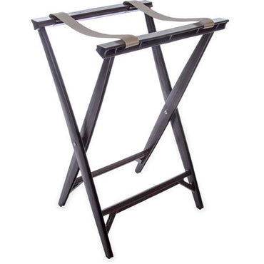 """FOLDING TRAY STAND, 13-3/4""Lx16-6/9""WX30-1/2""H, (2) BLACK ST"" - Mabrook Hotel Supplies"