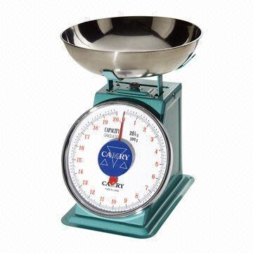 """MECHANICAL SPRING SCALE, SS. BOWL., CAPACITY: 10 KG, DIV: 20"" - Mabrook Hotel Supplies"