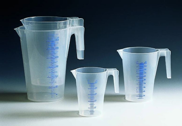 TRANSPARENT GRADUATED CARAFE 0.5LT. - Mabrook Hotel Supplies
