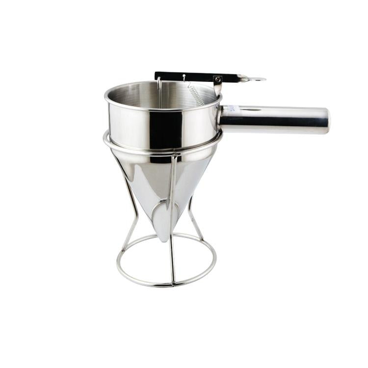 STAINLESS STEEL 201 OIL FUNNEL W/STAND, 5-1/3