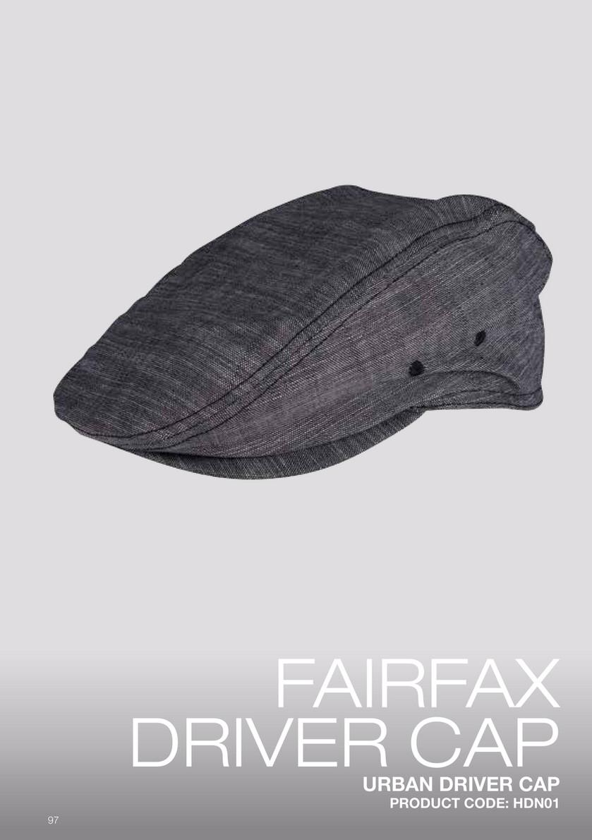 FAIRFAX URB DRIVERS CAP S-M,COLOR:GREY - Mabrook Hotel Supplies