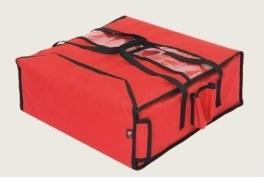 HEATED BAG, CAPACITY: 4 PIZZA BOXES 50X50 CM, SYSTEM FOR HEATING UP THE BOTTOM AND THE TOP CONNECTED TO A CAR LIGHTER, SIDE POCKETS FOR DRINKS, DURABLE AND EASILY WASHABLE MATERIALS. DIM: 53X53X21 H C