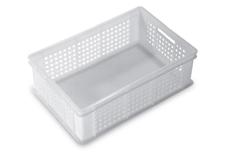 SERVICE PERFORATED STACK TRAY WITH CLOSED HANDLES COLOR:NEUTRAL,DIM: 60X40X13HCM - Mabrook Hotel Supplies