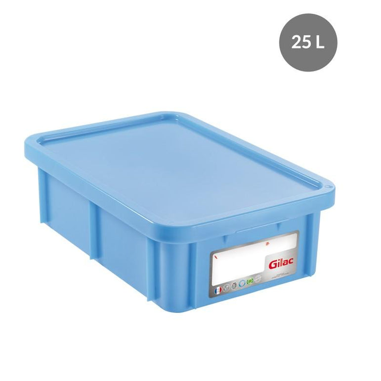 """RECTANGULAR CONTAINER WITH LID, COLOR: BLUE, CAPACITY: 25 L,"" - Mabrook Hotel Supplies"