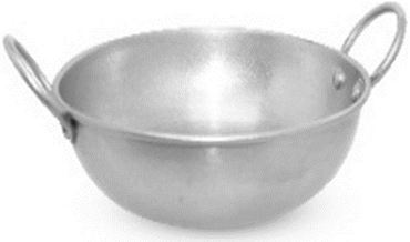 KARAHI S/S PLAIN VINTAGE FINISH,DIM:16.5X5.5 CM,CAP:800 ML(3 PORTION)