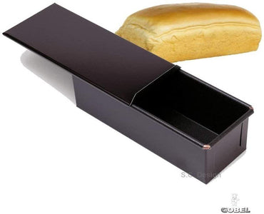 TOASTBROT WITH LID - NON STICK L: 250mm H: 76mm - Mabrook Hotel Supplies