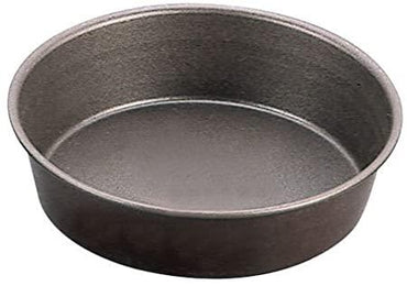 ROUND PLAIN CAKE MOULD - ROLLED EDGES - NON STICK D:180mm H: - Mabrook Hotel Supplies