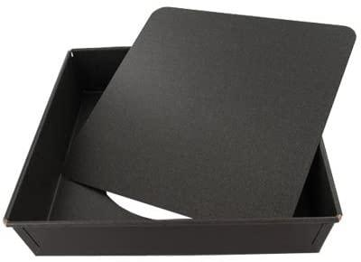 SQUARE CAKE MOULD - REINFORCED ROLLED EDGES-LOOSE BOTTO