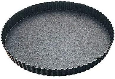FLUTED ROUND TART MOULD - FIXED BOTTOM - NON STICK D: 280mm