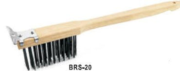 Wire Grill Brush with Scraper - Mabrook Hotel Supplies