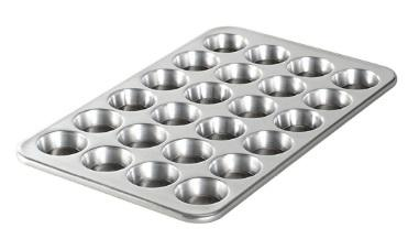 ALUMINUM  MUFFIN PAN 24 CUPS NON STICK