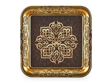 SQUARE OTTOMAN TRAY - Mabrook Hotel Supplies