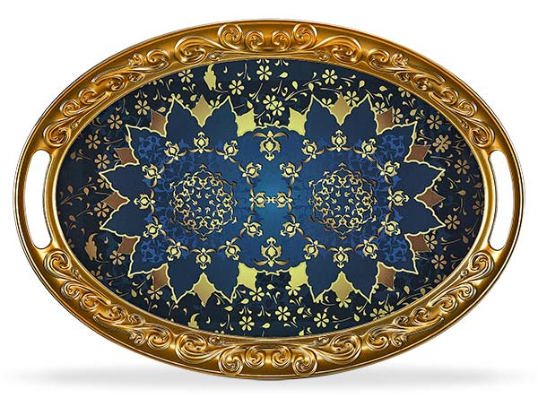 OVAL OTTOMAN TRAY - Mabrook Hotel Supplies