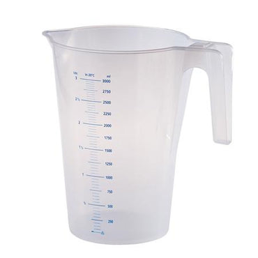 TRANSPARENT GRADUATED CARAFE 1LT. - Mabrook Hotel Supplies