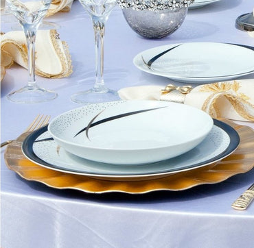 KUTAHYA CORNER ZEUGMA DINNER SET 85PCS - Mabrook Hotel Supplies