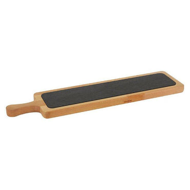 """WOODEN SERVICE PLATTER WITH PORCELAIN SURFACE, 60x15cm"" - Mabrook Hotel Supplies"