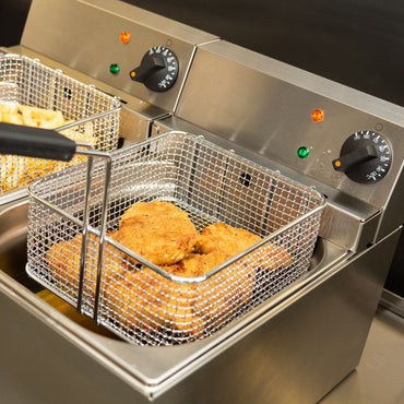 LINCAT ELECTRIC COUNTER TOP TWIN TANK FRYER - 2 BASKETS - Mabrook Hotel Supplies