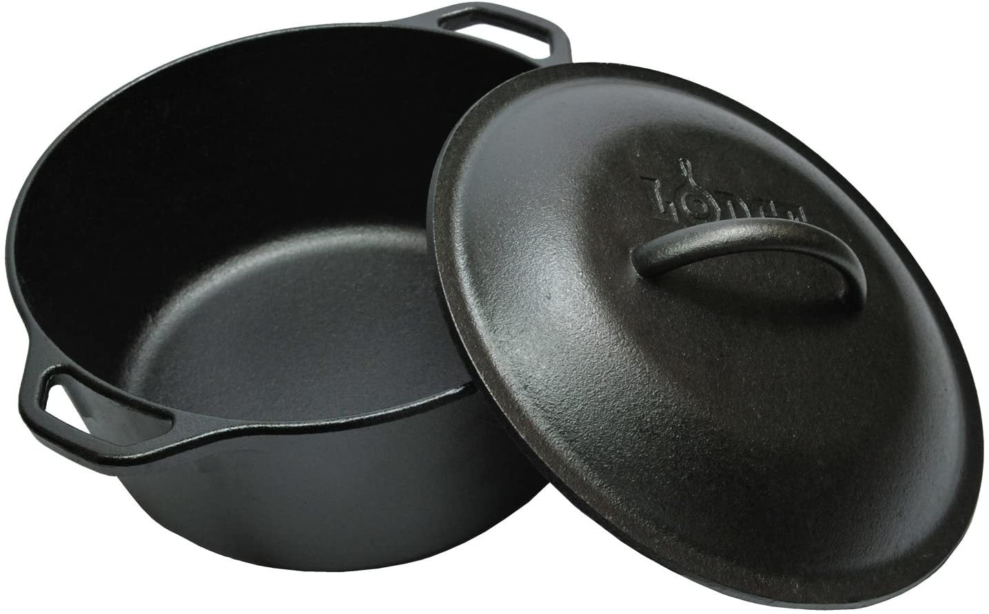 LODGE PRE-SEASONED CAST IRON DUTCH OVEN 5 QUART (4.73 LITERS) - Mabrook Hotel Supplies