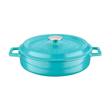 LAVA MULTI-PURPOSE FLAT PAN TURQUOISE - (Ø) 28 CM - Mabrook Hotel Supplies
