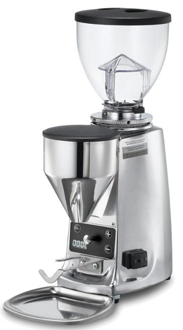 Mazzer Mini Electronic Type B White Espresso Grinder. - Mabrook Hotel Supplies
