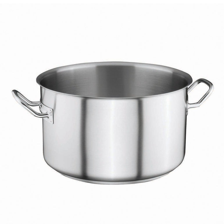 S/S STOCK POT, SEMI SATIN  - 26X16 CM - Mabrook Hotel Supplies