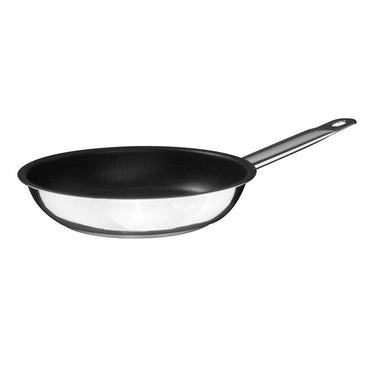 S/S FRYPAN, NON STICK COATED , MIRRIR FINISHED, Size:28X05 cm.