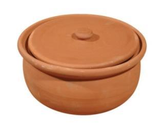 GLAZED POT WITH LID 14 CM