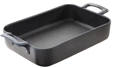 (642062)BELLE CUISINE RECTANGULAR BAKING DISH,GREY,CAST IRON STYLE,DIA:16X11X4.5CM,OZ 15 3/4