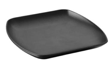 """647932 CLUB SQUARE PLATE, CAST IRON STYLE. DIM: 26X26X2.9 CM"" - Mabrook Hotel Supplies"