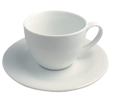 LIPARI BREAKFAST CUP & SAUCER WHITE. - Mabrook Hotel Supplies