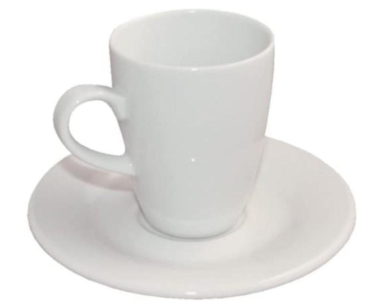 (616081) LIPARI CUP & SAUCER WHITE. - Mabrook Hotel Supplies