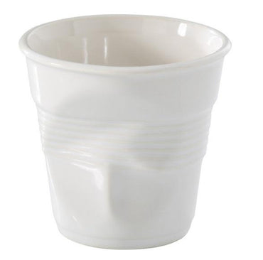 (636266) BREAKFAST CRUMPLE TUMBLER, WHITE - Mabrook Hotel Supplies