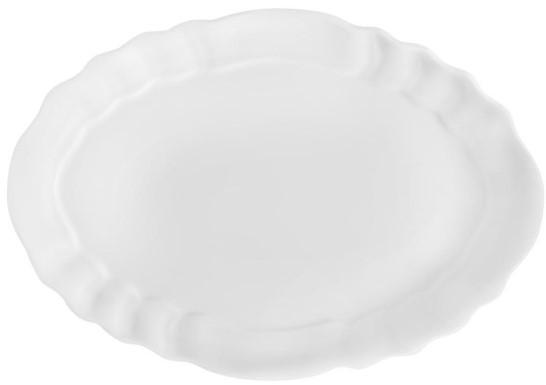 ROYALE PLAIN WHITE OVAL PLATE - 37 CM
