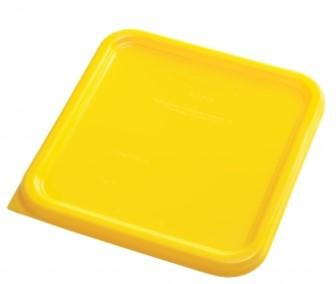 Rubbermaid Square Container Lid - Small Yellow - 1980303 - Mabrook Hotel Supplies