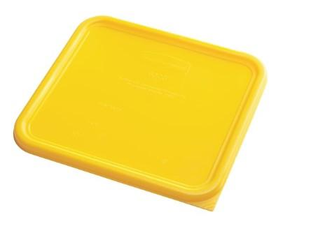 Rubbermaid Square Container Lid - Large Yellow - 1980310 - Mabrook Hotel Supplies