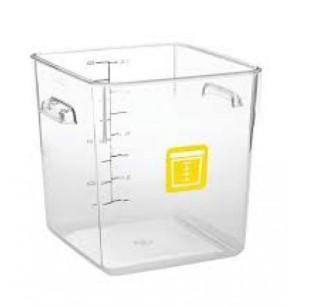 Rubbermaid Square Container - Clear - 7.6L Yellow - 1980333 - Mabrook Hotel Supplies