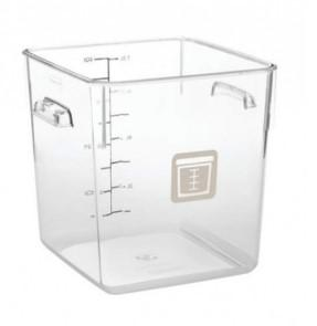 Rubbermaid Square Container - Clear - 7.6L Brown - 1980335 - Mabrook Hotel Supplies
