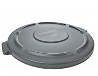 Rubbermaid Round Flat Top Trash Can Lid - Gray - Mabrook Hotel Supplies