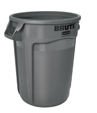 Rubbermaid Brute Vented Container 32 Gal - Gray