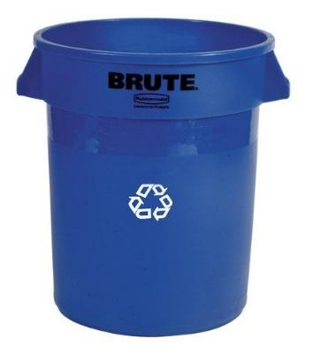 BRUTE CONT RECYCLE 32G/121L BLUE
