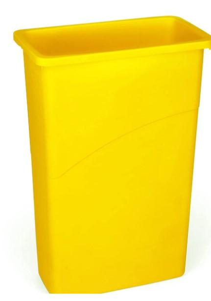 Rubbermaid Slim Jim Recycling Can 23 Gal - Yellow - Mabrook Hotel Supplies