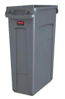 Rubbermaid Vented Slim Jim Can 23 Gal - Gray